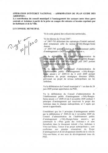1ère partie projet de délibératiob selon version du 10 novembre pour sance du 17 novembre 2010.JPG